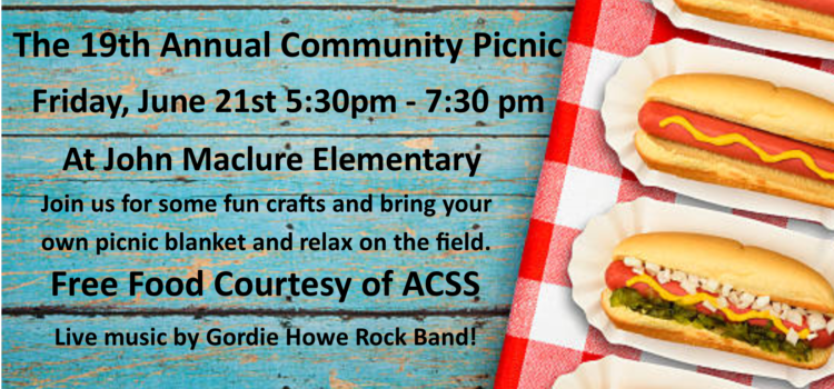 Community Picnic and Some More Summer Camps